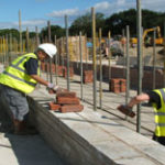 GCS Volunteers rebuilding Lock 15 chamber walls